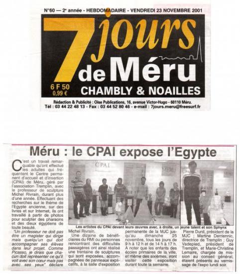 7 jours de Méru - 23-11-2001