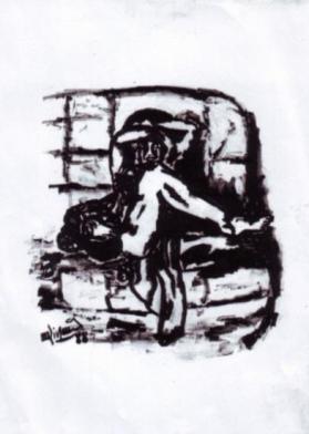 Femme sur canapé