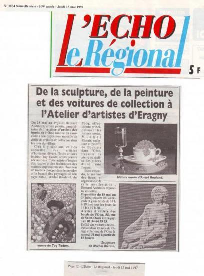 L'Echo Régional 15-05-1997