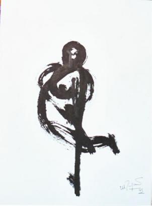 La femme est une courbe traversée par une droite