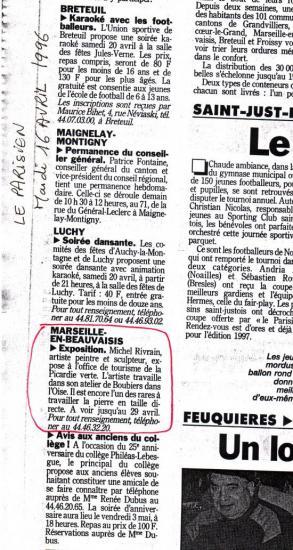 Le Parisien- 16-04-1996