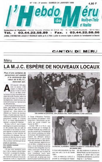 Hebdo de Méru - 24-01-1998